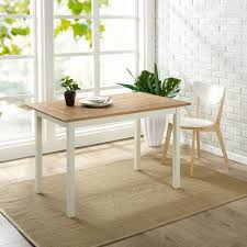 Zinus Farmhouse White Wood Dining Table