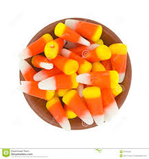 Halloween Candy Dish by Halloween Candy Corn In A Small Bowl Stock Photo Image 48745550