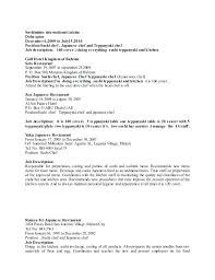 Culinary Internship Resume Examples With