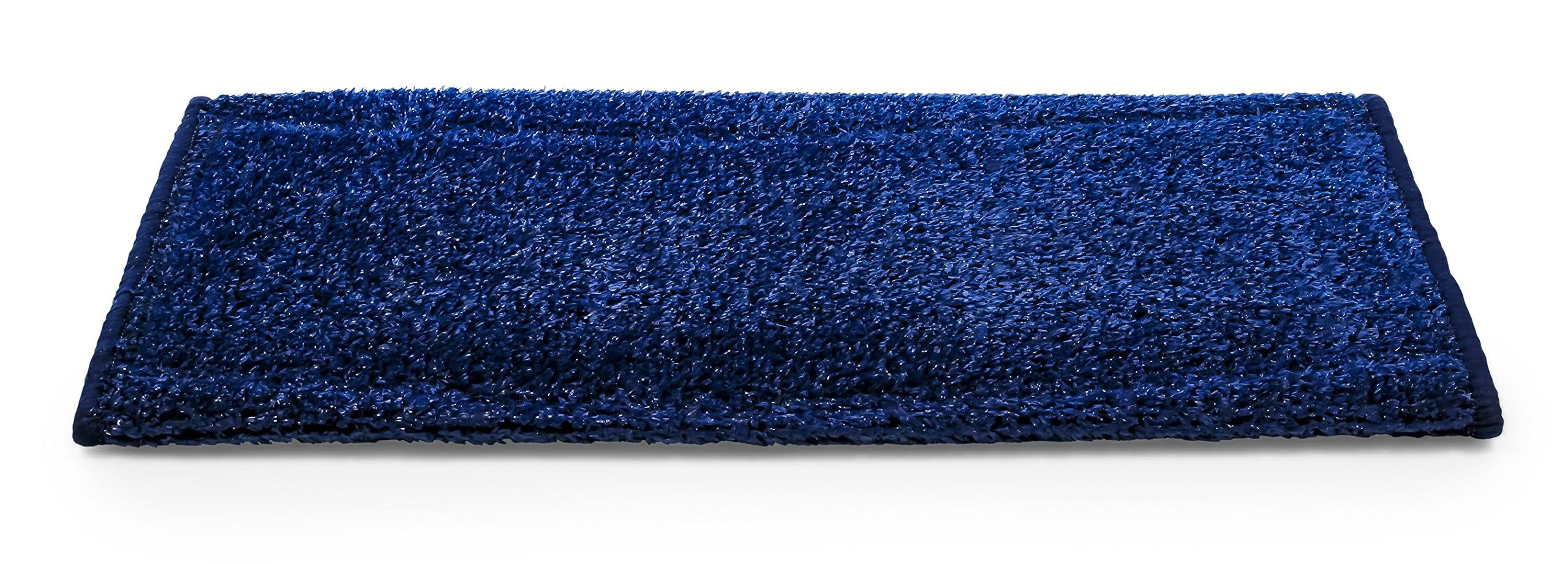 Camco 42948 Premium Radius Wrap Around Step Rug, Turf Material (22 inch Wide), Blue