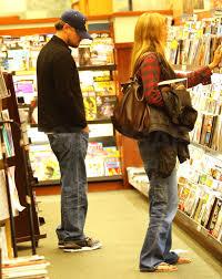 of Leonardo DiCaprio and Bar Refaeli at Barnes & Noble