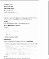Cna Resume Examples 10 Certified Nursing Assistant