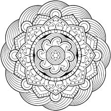Mandala Coloring Page Simple Pages As Well Best