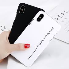 iPhone X 7 8 Plus 6s Cool Letter Matte Hard PC Case Back Cover Case