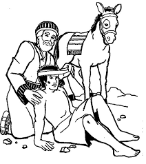 Colouring Pages Good Samaritan Helping My Mother Others Page Tube