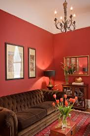 Sensational Red Coral Fabric Decorating Ideas For Living Room Traditional Design With Area Rug Brown