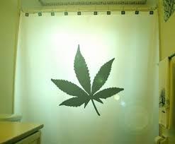 marihuana blatt dusche vorhang cannabis hanf unkraut badezimmer dekor langer stoff in 84 96 zoll benutzerdefinierte größe erhältlich