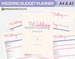 Wedding Planning Planner Organizer Budget Checklist