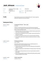 12 Professional Painter Resume Samples Resumeviking Com Objective Ex Pdf Template Job Description Examples Sample Free