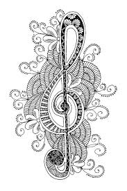 Printable Music Mandala Coloring Pages With Pagesmusical