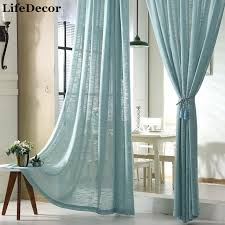 rideaux de sur mesure rideaux sur mesure tulle simple moderne coton blanc bleu jaune