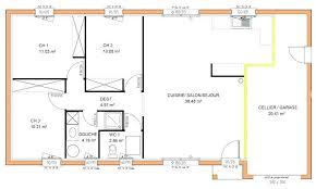 plan maison plain pied 3 chambres en l 36 unique plan maison plain pied 3 chambres idées de décoration