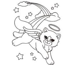 Lisa Frank Shopping Coloring Pages Adventurous Markie Beautiful Cat Angel