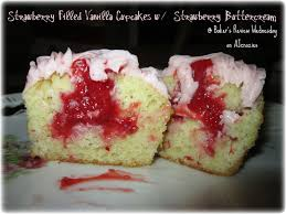 Baker s Review Wednesday 14 Strawberry Filled Vanilla Cupcakes w Strawberry Buttercream