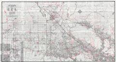 Los Angeles 1946 Road Map Of San Fernando Valley