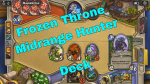 knights of the frozen throne midrange hunter deck hearthstone