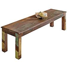 finebuy sitzbank kalkutta 120 x 45 x 38 cm mango massivholz esszimmerbank landhaus holzbank für 2 3 personen shabby chic bank für