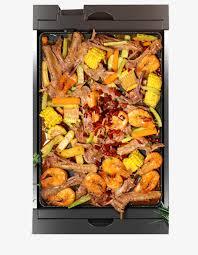 plateau de cuisine plateau de cuisson oblongue sans fumée barbecue coréen grill de