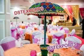 Indian Wedding Table Decoration Umbrella