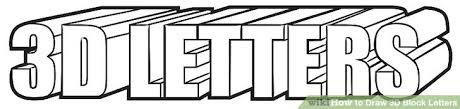 3 Easy Ways to Draw 3D Block Letters with