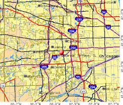 Oakbrook Terrace Illinois IL profile population maps