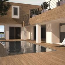 wood effect porcelain tile by the pool surripui net