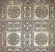 24x24 Pvc Ceiling Tiles by Majesty Antique Silver Chocolate 24x24