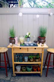 Wooden Patio Bar Ideas by Simple Design Of Outdoor Bar Diy Set Near Fence As Deck Decoration