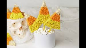 Rice Krispie Halloween Treats Candy Corn by Candy Corn Rice Krispies Treats Youtube