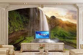 kundenspezifische wandtapete der majestätischen berg wasserfall papel de parede wohnzimmer sofa tv wand schlafzimmer moderne design tapeten