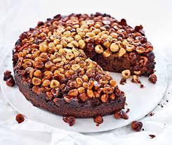 gestürzter schokolade haselnuss kuchen