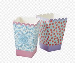 Popcorn Paper Mug Baking Cup Aqua PNG