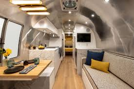 100 Airstream Interior Pictures Renovated Is Like A Chic Apartment On Wheels Curbed