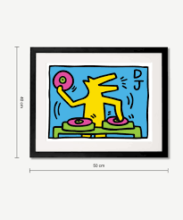 keith haring untitled dj 1983 gerahmter kunstdruck 40 x 50 cm