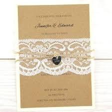 Rustic Pocketfold Wedding Invitations Love Lace Parcel Uk