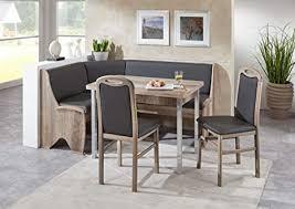 scouts eckbankgruppe meran essgruppe 168 x 128 x 87 vierfußtisch 2 stühle modern eckbank küchentisch 4 teilig küche polsterung lederoptik