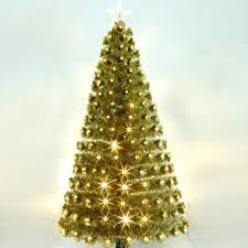 21M 210CM Gold Warm White Light Fiber Head Christmas Tree Large Scene Shopping