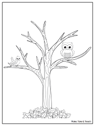 Leafless Tree Coloring Page