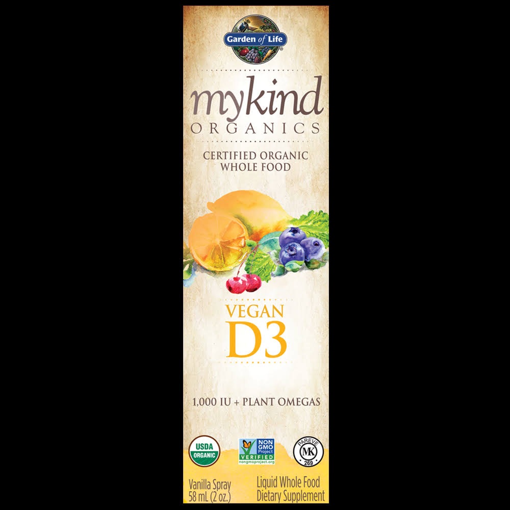 Garden Of Life Kind Organics Vegan D3 Spray - 58ml
