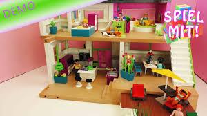 playmobil luxusvilla playmobil mit pool küche badezimer kinderzimmer wohnzimmer