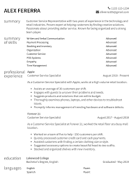 Customer Service Resume Samples & How-To Guide | Resume.com 10 Coolest Resume Samples By People Who Got Hired In 2018 Accouant Sample And Tips Genius Templates Wordpad Format Example Resume Mistakes To Avoid Enhancv Entrylevel Complete Guide 20 Examples 7 Food Beverage Attendant 2019 Word For Your Job Application Cover Letter Counselor With No Experience Awesome At Google Adidas Cstruction Worker Writing Business Plan Paper Floss Papers Real Estate