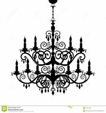 Lighting Chandelier Clipart Crystal Pencil And In Color