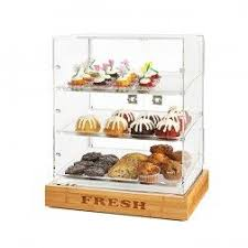 Countertop Bakery Display Cabinet By Rosseto Donuts Pastries Bagels And Croissants Works As A Self Serve Pastry Case Or Turn Around For Staff