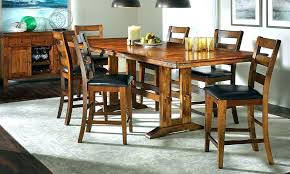 Rustic Wood Dining Table Set Bar Height Large Size Of Room Solid Round Chair