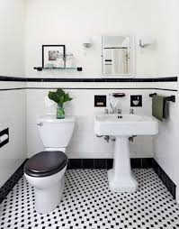 beautiful black and white bathroom flooring 31 retro black white