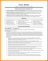 Hr Recommendation Letter Template Valid Sample Resumes For Hr ...