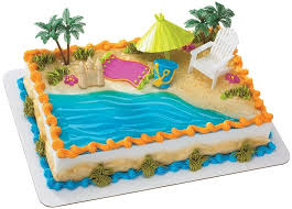 Amazon Beach Chair And Umbrella DecoSet Cake Decoration Toys Games