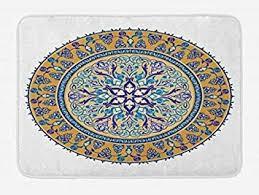orientalische badematte kreisförmige ornament muster mit