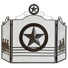 Koehler Home Decor Free Shipping by Amazon Com Koehler 12569 35 Inch Brown Lone Star Fireplace Screen