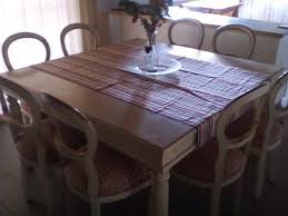 For Sale Dining Room Table With 8 Padded Chairs
